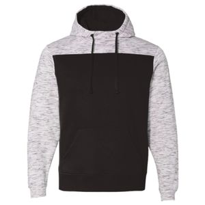 Mélange Fleece Colorblocked Hooded Sweatshirt Thumbnail