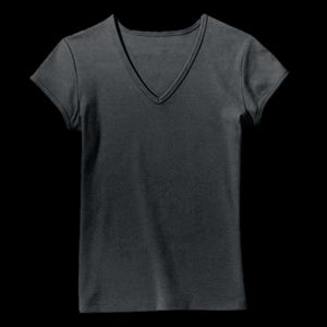 214 - Ladies' Fine Jersey V-Neck Thumbnail